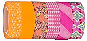 Washi Tape | Evermae Design Co. -- Brilliant Brights Premium Japanese Washi Tape, Set of 6 Rolls