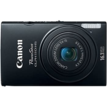 Canon PowerShot ELPH 110 HS 16.1 MP CMOS Digital Camera with 5x Optical Image Stabilized Zoom 24mm Wide-Angle Lens and 1080p Full HD Video Recording (Black) (OLD MODEL)