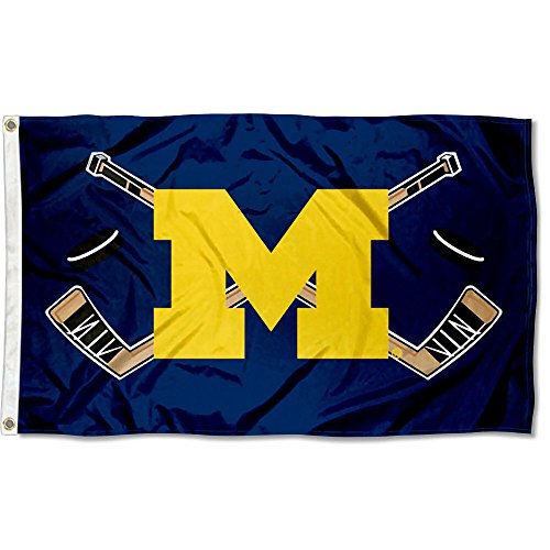 College Flags and Banners Co. Michigan Wolverines Hockey Flag