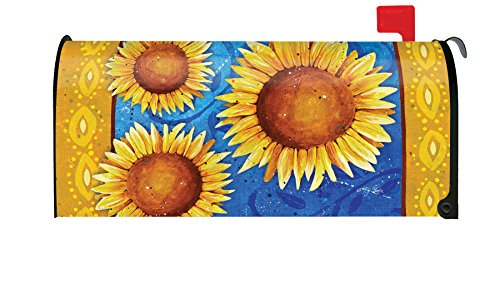 weet Sunflowers Yellow Summer Flower Magnetic Mailbox Cover ()