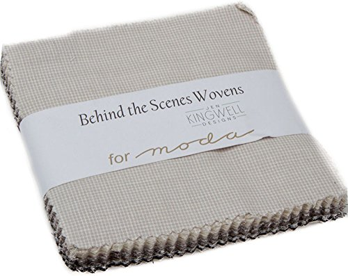 - Jen Kingwell Behind the Scenes Wovens Charm Pack 42 5-inch Squares Moda Fabrics 18135PP