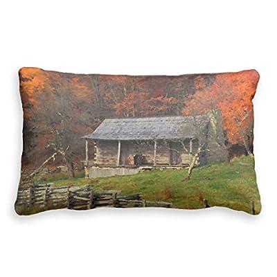 Bonny Sui Pillow Case Old Kentucky Country Cabin Fall Season Pillow Case Cover