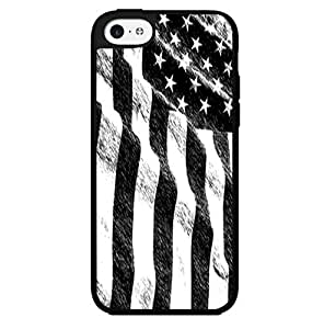 Black and White Sketched American Flag Hard Snap on Phone Case (iPhone 5c)