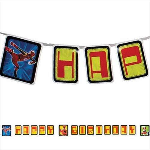 Power Rangers ' Red Ranger ' Happy Birthday Banner ( 1ct )   B00OS7JV3I