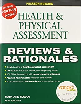 Book Pearson Nursing Reviews & Rationales: Health & Physical Assessment (Reviews and Rationales) by Hogan MaryAnn Ricci MSN RN Mary Jean Je Welliver Joyce Je (2010-06-06)