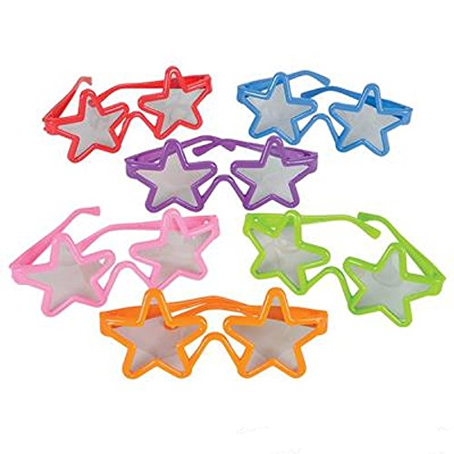 Kiddie Christmas Costumes (KIDDIE STAR SUNGLASSES. 24 PIECES.)