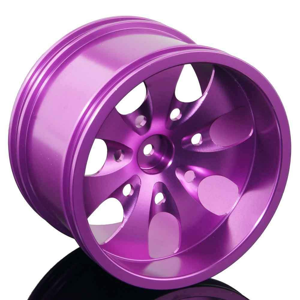 Toyoutdoorparts RC 08008N Purple Alumiunm Wheel 4P Rims D:78mm W:50mm for HSP 1:10 Monster Truck