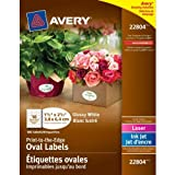 Avery Avery Easy Peel Print-to-the-edge Label - 1.50 Width X 2.50 Length - 1 / Pack - Oval - 18/sheet -