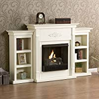 SEI Tennyson Gel Fuel Fireplace with Boo...