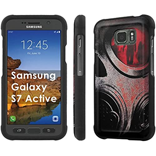 AT&T [Galaxy S7 Active] [5.1 Screen] Armor Case [NakedShield] [Black] Total Armor Protection [Shell Snap] + [Screen Protector] Phone Case - [Gas Mask] for Samsung Sales