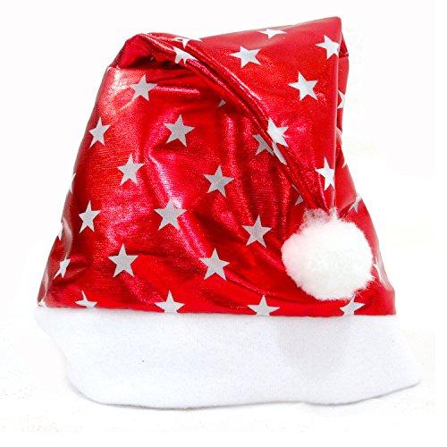 Christmas Party Santa Hat Blue And White Cap for Santa Claus Costume New natal christmas2018 hot sale decorazioni natalizie5z]()
