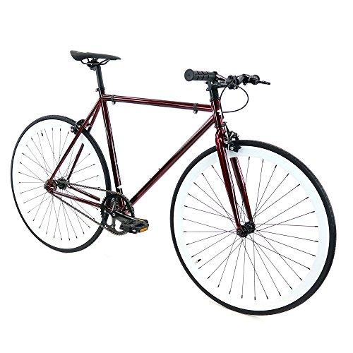 (Golden Cycles Bike with Riser Handle Bar (Cardinal Burgundy/White, 52cm-Riser)