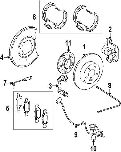 Parking Brake Shoe Mercedes-Benz 004 420 86 20