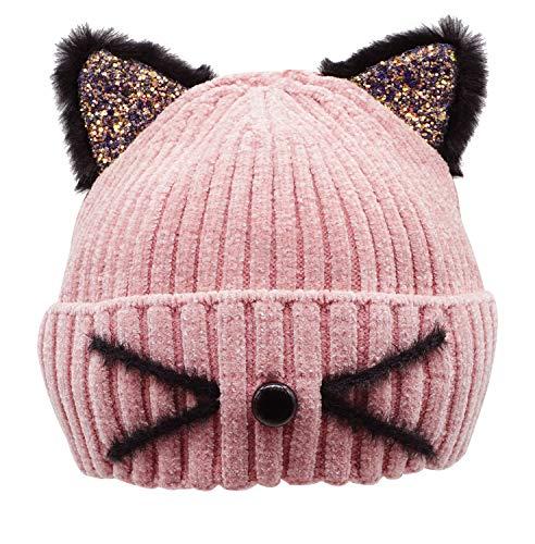 Winter Hats for Women Cute Cat Ear Hat Warm Womens Beanie Hat Ski Cap