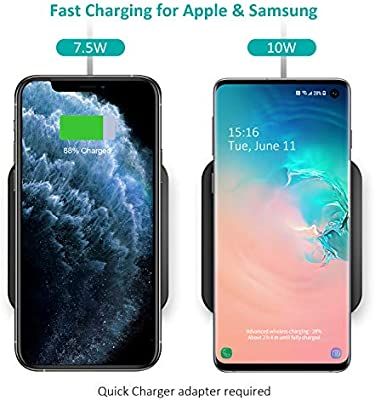 CHOETECH Wireless Charger, 10W Max Qi-Certified Fast Wireless Charging Pad Compatible with iPhone 11/11 Pro/11 Pro Max/XS Max/X, Samsung Galaxy Note ...