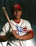 NEFTALI SOTO CINCINNATI REDS SIGNED AUTOGRAPHED 8x10 PHOTO W/COA W/BAT