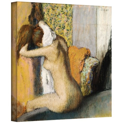 - ArtWall 'After The Bath, Woman Drying Her Neck' Gallery-Wrapped Canvas Artwork by Edgar Degas, 18 by 18-Inch