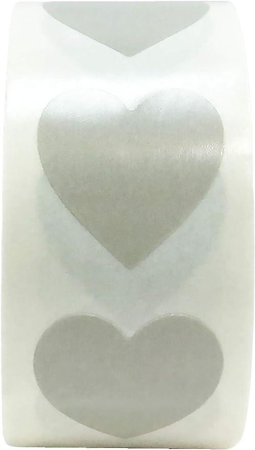 13 mm 1//2 Pollice Etichette per San Valentino 1000 Pacchetto Blu Adesivi a Cuore
