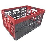 Profesional - Klappbox TÜV certficado 45 L hasta 50 kg anthracite / rojo Caja plegable Plástico Cajón Caja