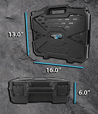 """ConsoleCASE Travel Carrying Case (17"""") for DJ Controller or Mixer and Accessories - Fits Hercules DJControl Instinct S Series , Instinct P8 , Air S , Instinct for iPad / P32DJ / DJConsole RMX 2 , Mk4"""