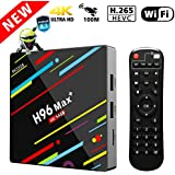 4G 64GB TV Box, Yongf H96 MAX+ Android 8.1 Smart Tv Box RK3328 Quad-Core 64bit Cortex-A53 4 GB 64G Penta-Core Mali-450 Up to 750Mhz+ Full HD / H.265 2.4G WiFi Smart Set Top Box