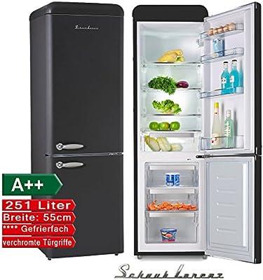 Schaub Lorenz sl250b Retro Nevera y congelador Combinación Negro ...
