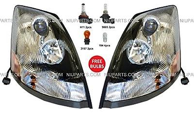 Volvo VNL Headlight Lamp Chrome - Driver & Passenger Side