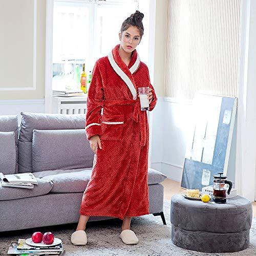 Cinturones Red Servicio Largo Domicilio Lujo Mujer Suave A Baño Albornoz Toalla Franela De Moda Casuales Batas Para Universal Bolsillos Y 7qzxHU