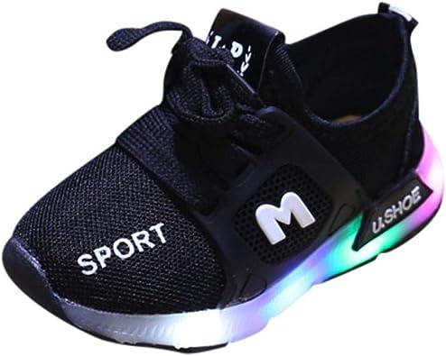 GongzhuMM Sneakers Bébé Coloré, avec LED Allumée Lumineuse, Chaussures de Sport pour Bébé 6 Mois 6 Ans