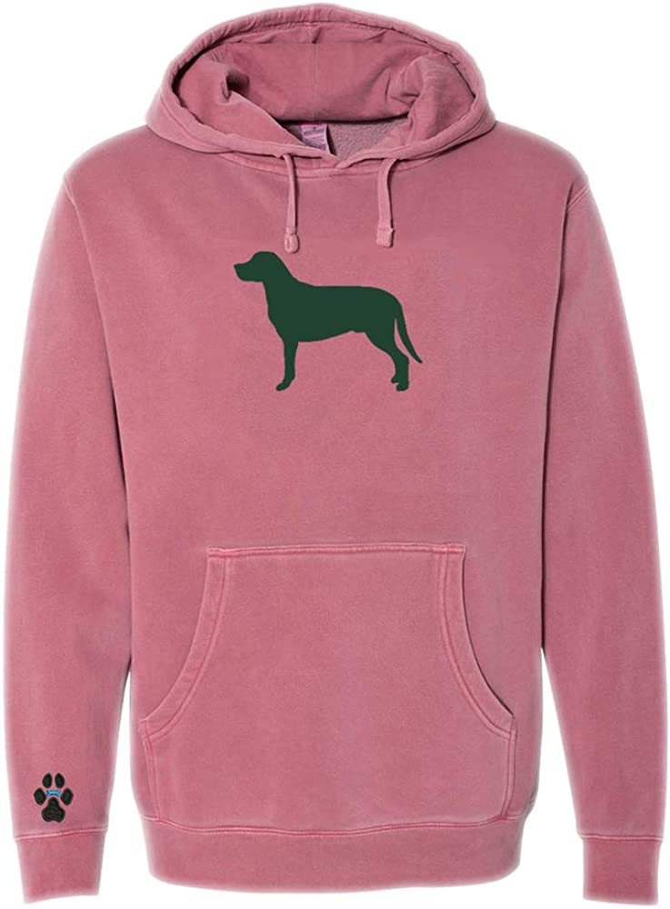 Heavyweight Pigment-Dyed Hooded Sweatshirt with Greater Swiss Mountain Dog Silhouette