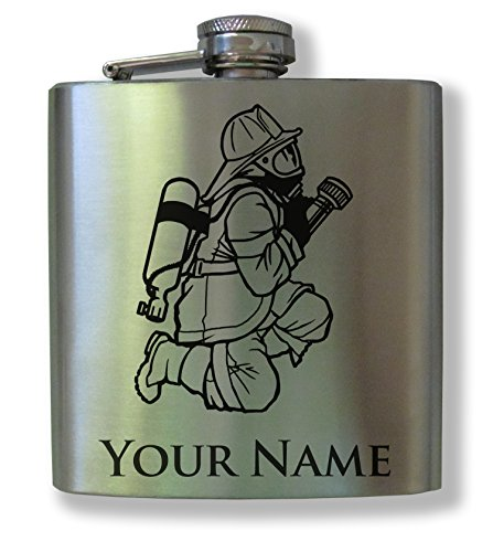 Personalized Stainless Steel Flask - Firefighter