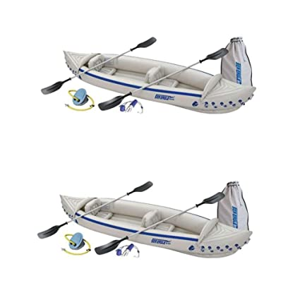 Amazon.com: Sea Eagle 370 Deluxe - Kayak y palas inflables ...