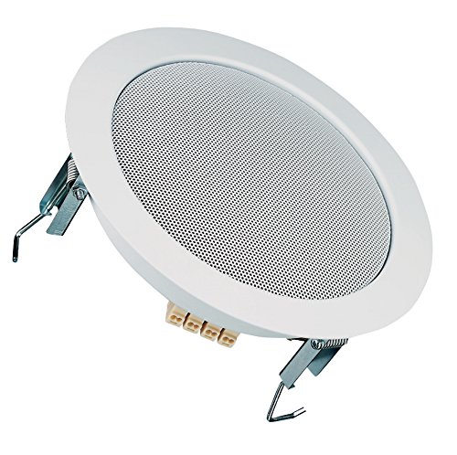 "Price comparison product image Visaton DL18/1-100V 6-1/2"" Ceiling Speaker 100V RAL 9016 White"