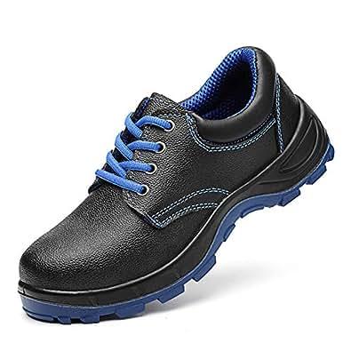 SHANLEE Steel Toe Shoes Men's Safety Work wear Shoes Casual Breathable Shoes(Black 36/5.5 B(M) US Women/3.5 D(M) US Men)