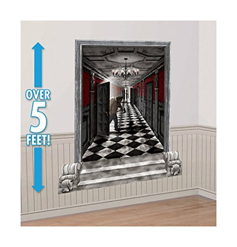 "Unbranded 6"" Gothic Mansion Hallway Scene Setter Halloween Party Wall Decoration kit"