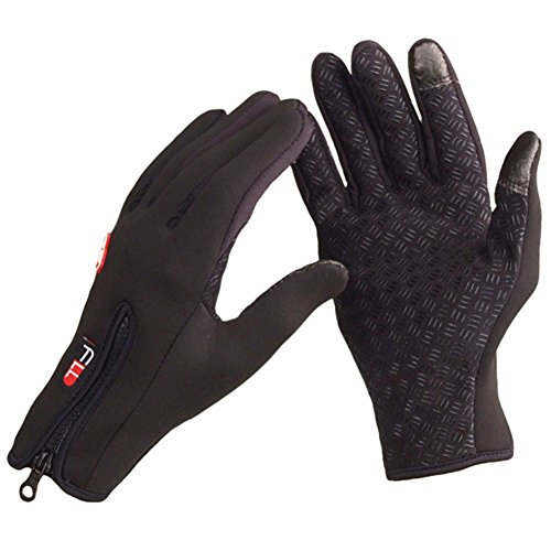 Price comparison product image eForCrazy Waterproof Outdoor Cycling Ski Winter Cold Weather Gloves finger Gloves for Adult & Teens