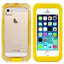 iPhone 5 5S SE Waterproof Case, iThrough 20ft Underwater, Dust Proof, Snow Proof, Shock Proof Case, Heavy Duty Protective Carrying Cover Case for iPhone 5 iPhone 5S/SE iPhone 4S