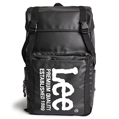 [リー] Lee リュック バックパック レディース メンズ リュックサック フラップリュック B07652JCMF  ブラック/ホワイト