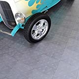 Garage Flooring. Non Toxic Motofloor Modular Easy to Set-up and Maintain Garage Flooring Alloy Tiles