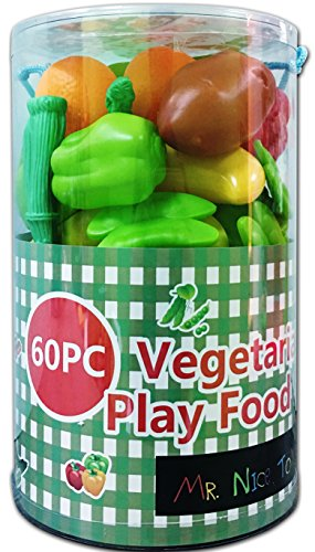 Mr. Nice Toy 60Piece Vegetarian Play Food Set