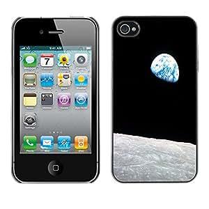 - Moon Night - - Monedero pared Design Premium cuero del tir¨®n magn¨¦tico delgado del caso de la cubierta pata de ca FOR Apple iPhone 4 4S 4G Funny House