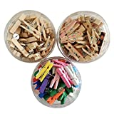 HTOYES Push Pin Clips - 60pcs 35mm Paper Clips Pin in 3 Style Colors Cork Board Bulletin Board Documents Artworks Craft Projects Photos Notes Papers, No Holes The Paper
