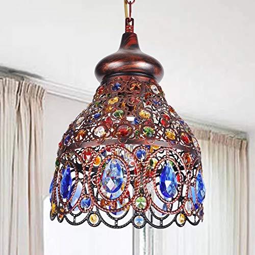 Bohemian Chandelier,Southeast Asia Mediterranean Style Bronze Color Crystal Chandelier Hanging lamp for Restaurant Living Room ()