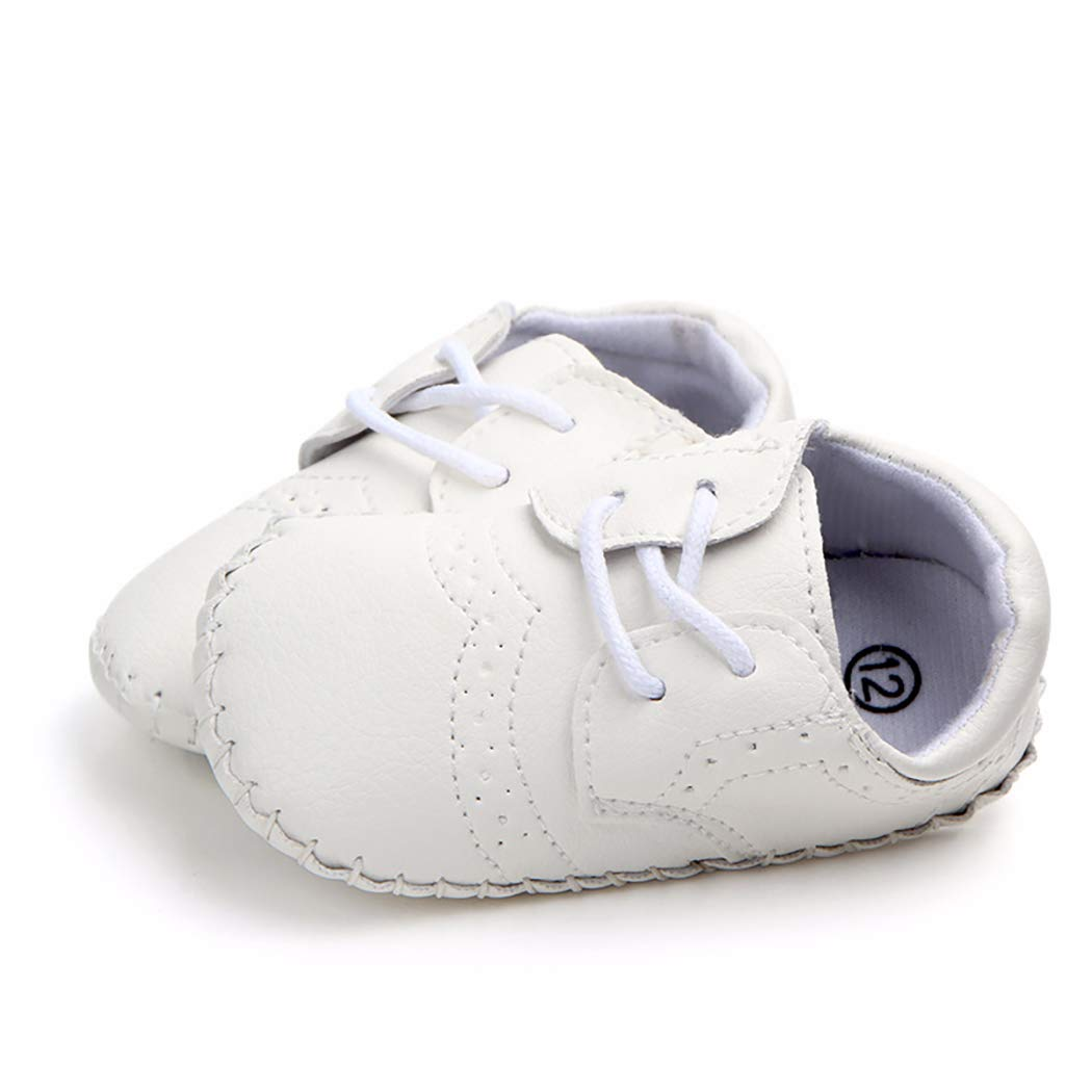 Cindear Newborn Baby Boys First Walking Shoes Soft Synthetic Leather Brogue Infant Dress Crib Shoes BWS-1203