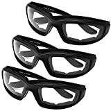 All Weather Protective Motorcycle Riding Goggle Glasses 3 Pack Set (Anytime Pack)