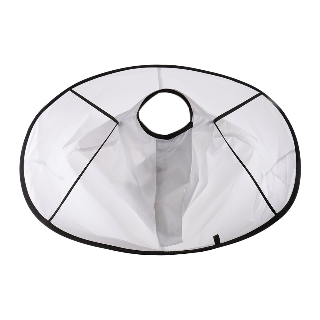 MagiDeal White Bib Umbrella Hair Cutting Cape Barber Styling Waterproof Cloak Cloth non-brand