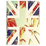 Blanket Sofa Bed Throw Lightweight Cozy Plush British Flag Sunshine Palm Tree 40''x50''