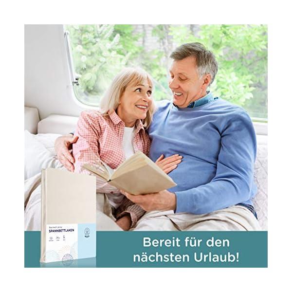 51esWE rvML Beeke® Premium Spannbettlaken Wohnmobil [3 teilig] - Multi-Stretch Bettlaken für Wohnwagen-Heckbett [Made in Germany…