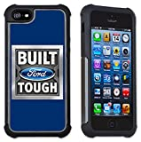 Maximum Protection Case / Cover with Cushioned Corners for iPhone 6 & iPhone 6S - Ford Built Tough Logo (blue)