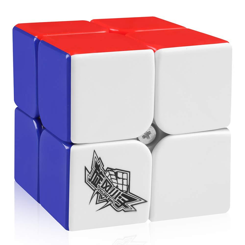 D-FantiX 50mm Cyclone Boys Speed Cube 2x2x2 Stickerless Magic Cube Puzzles Colorful AM-TG003